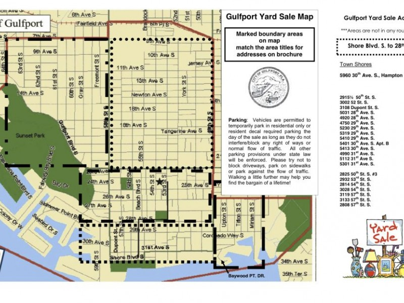 39 Treasure 39 Map Available For City Wide Yard Sale Saturday Gulfport Fl Patch