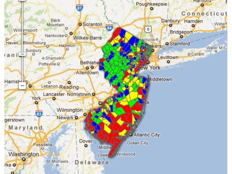 Nj Tax Map Interactive Map: The State of Property Taxes in NJ | East  Nj Tax Map