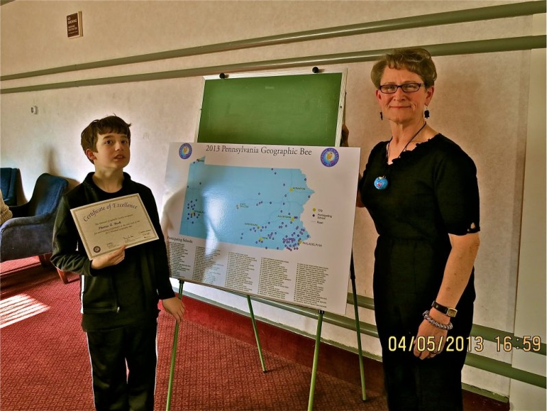 Berwyn 7th-Grader Competes in State Geography Bee