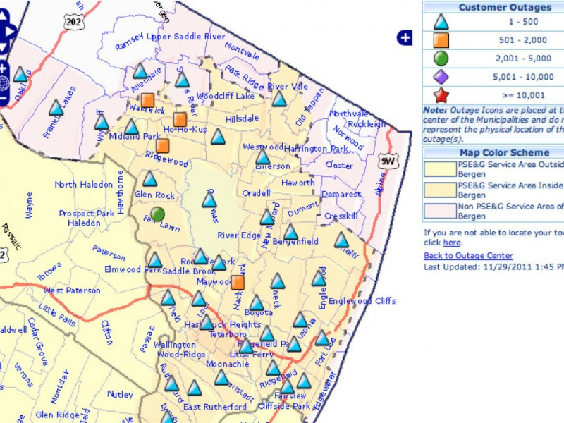 Rutherford Electric Power Outage Map.Pse G 20 000 Residents Without Power In Bergen Passaic Counties