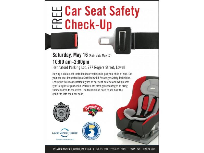 Free Car Seat Safety Check Up Saturday May 16
