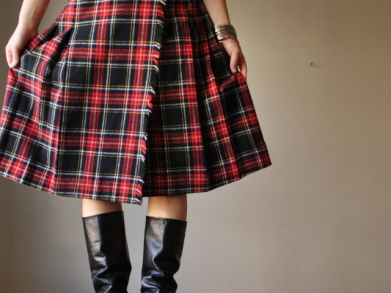 School Uniform Plaid Skirt - Skirts