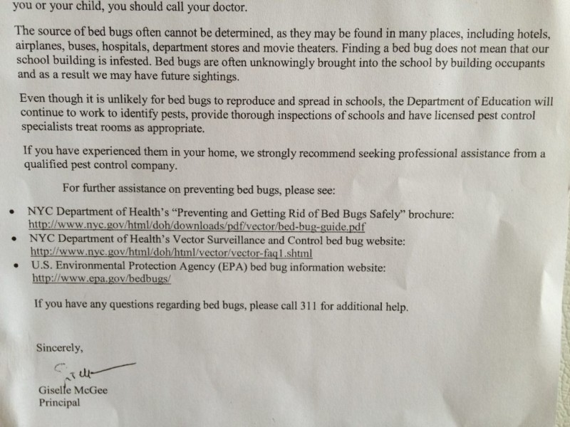 Bed Bug Notice Apartment Building