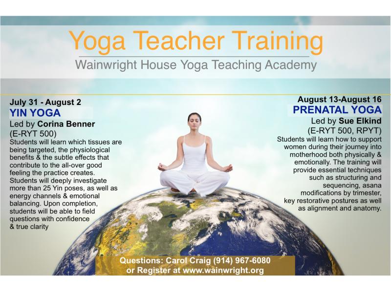 Yin Yoga And Pre Natal Teacher Training At Wainwright House Yoga