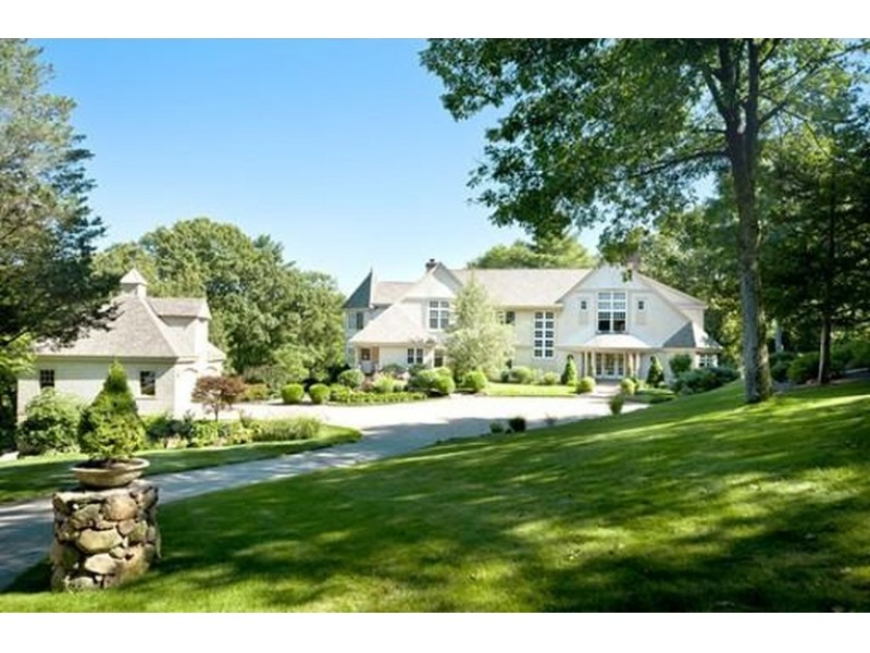 A private classic home hits the market in wenham for Classic house hits