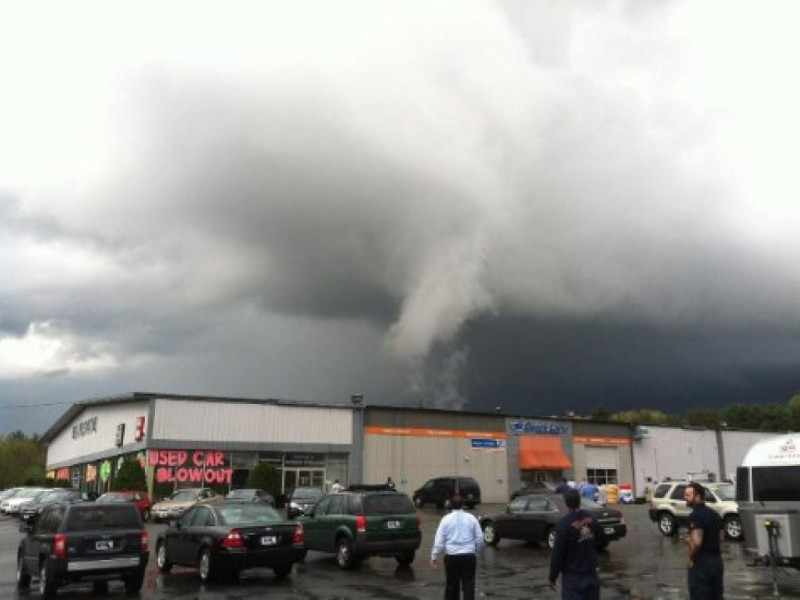 about town  did a tornado hit stoughton