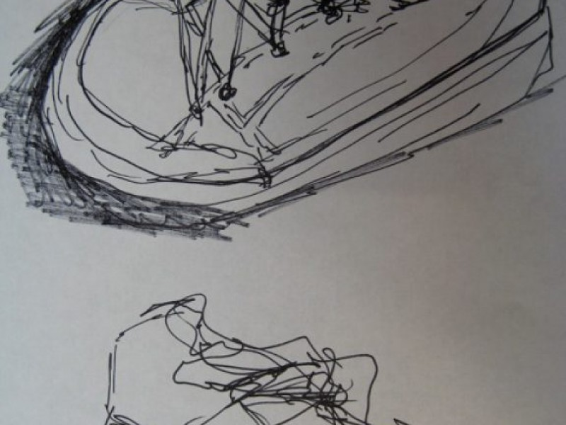 Contour Line Drawing Eye : Drawing without looking at paper trains the eye greater alexandria