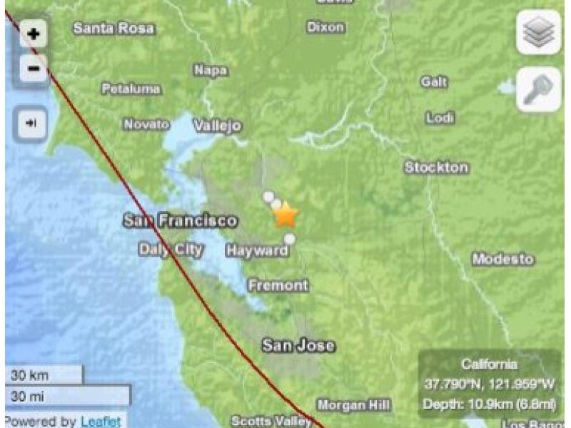 San Ramon Earthquake Map.Did You Feel Today S Earthquake Near Danville And San Ramon