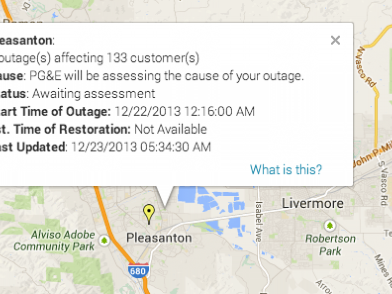 2 Power Outages Impacting 133 Residents Pleasanton Ca Patch