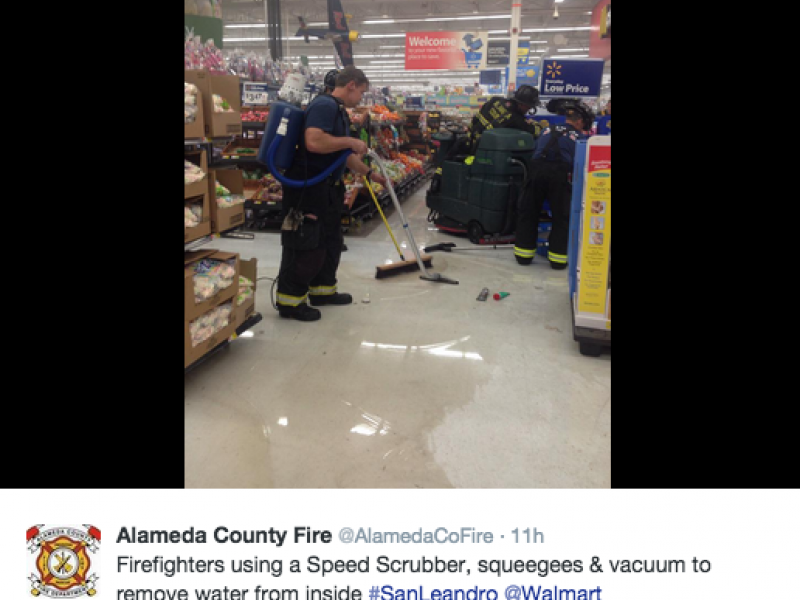 San Leandro Walmart Closed After Kitchen Fire In McDonalds Inside Store