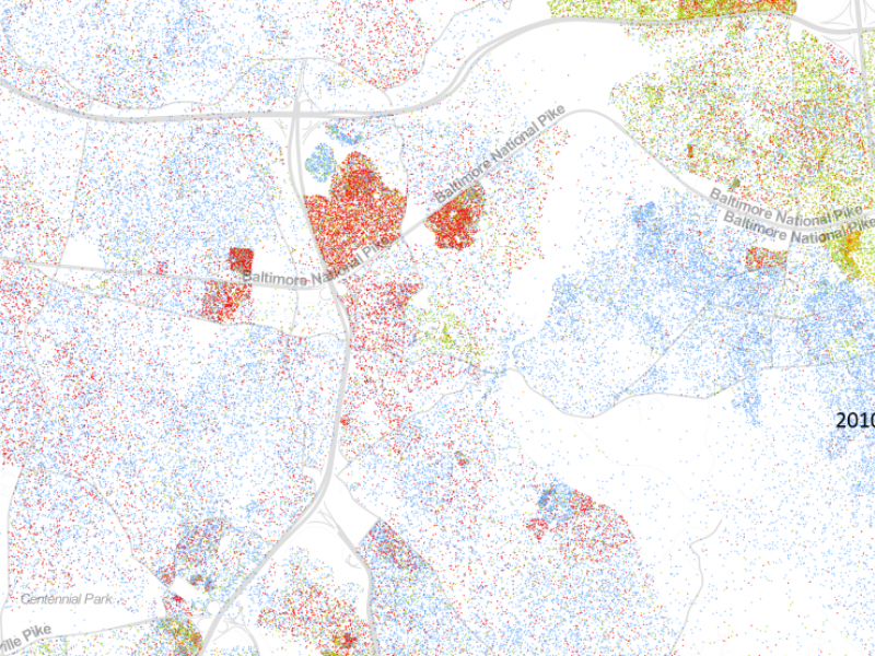 Ellicott Citys Racial Makeup Represented in Map Ellicott City MD