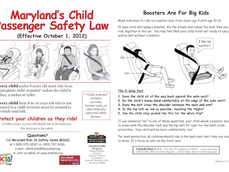 Maryland Car Seat Laws Weight