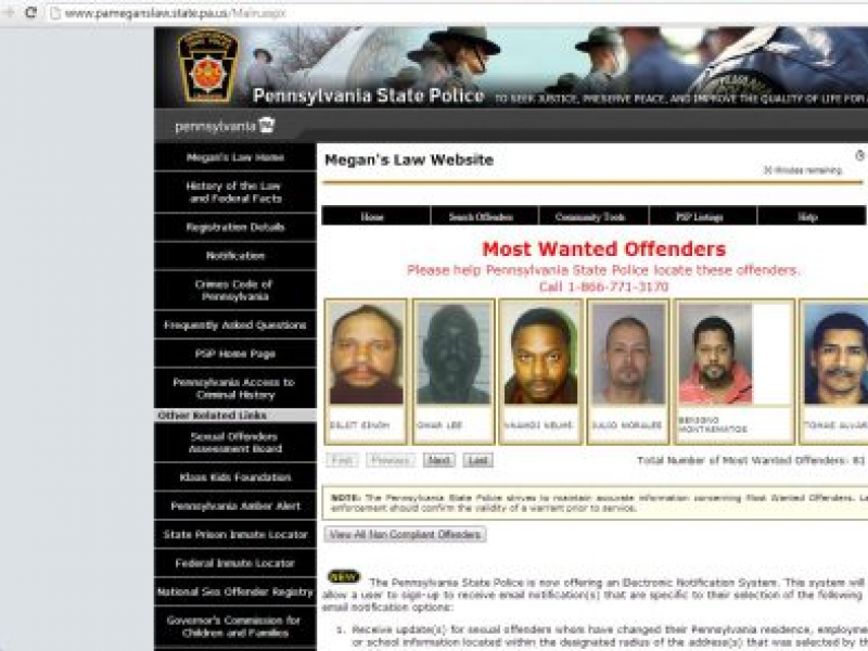 Search sex offenders in your city