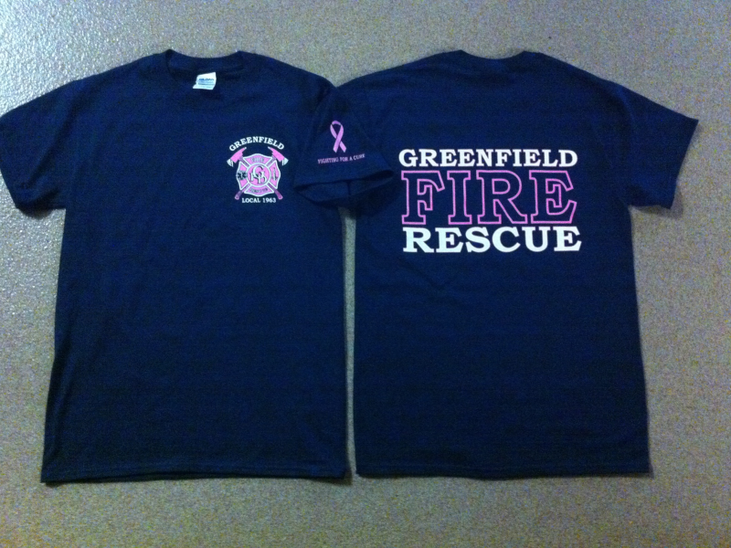 Fire Department Selling Breast Cancer Awareness T Shirts This Month