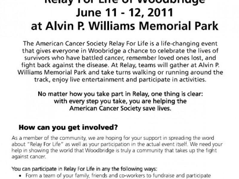 the american cancer society relay for life woodbridge woodbridge