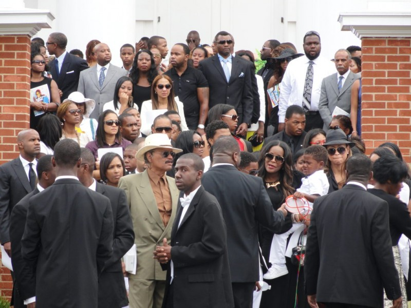 Photos: Funeral for Usher's Stepson Held at Wieuca Road ...