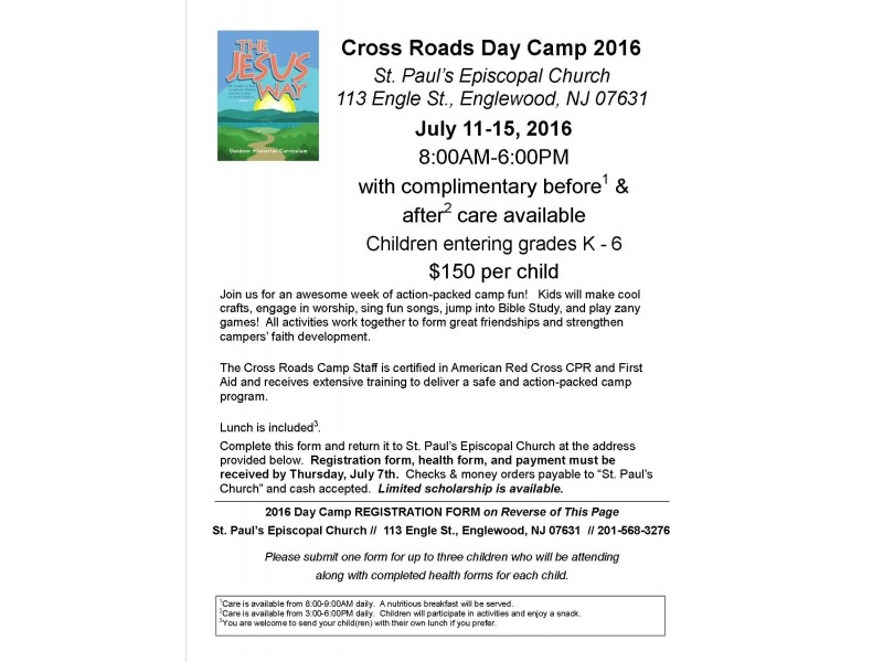 Summer Day Camp At St Pauls Englewood Englewood Nj Patch
