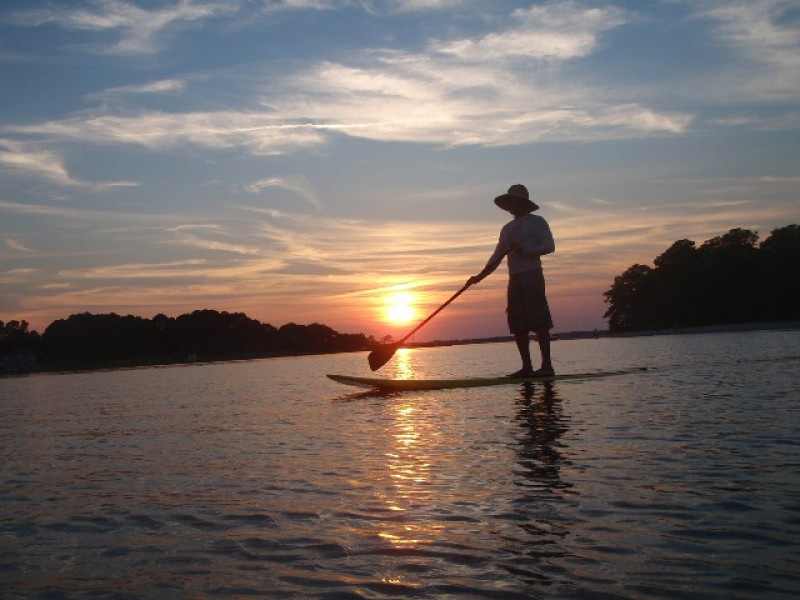 full moon paddle at paddleworks clinton ct patch