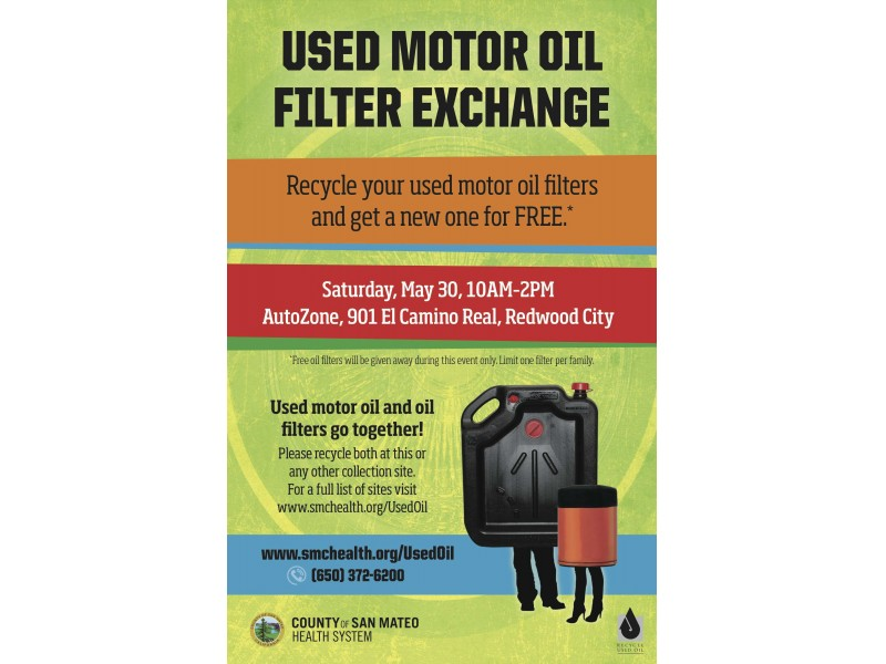 this saturday free motor oil filter for recycling your