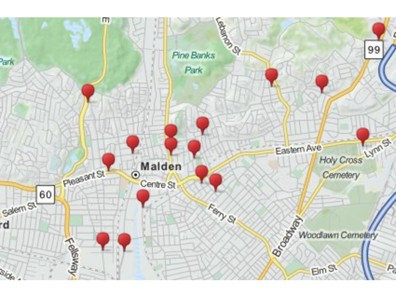 SEX OFFENDER MAP Where Do Maldens Highest Level Sex Offenders Live