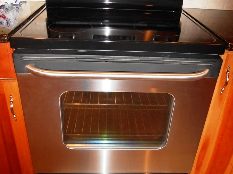mint condition ge stainless steel electric range stove for sale0