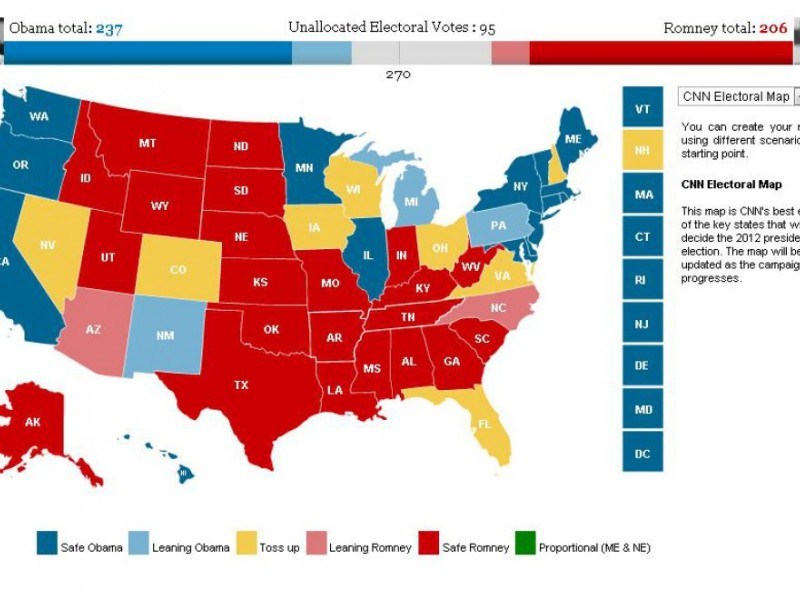The Electoral College favors voters in small states ...