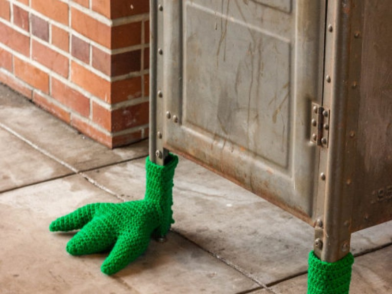Mystery Knitted Items Pop Up Downtown