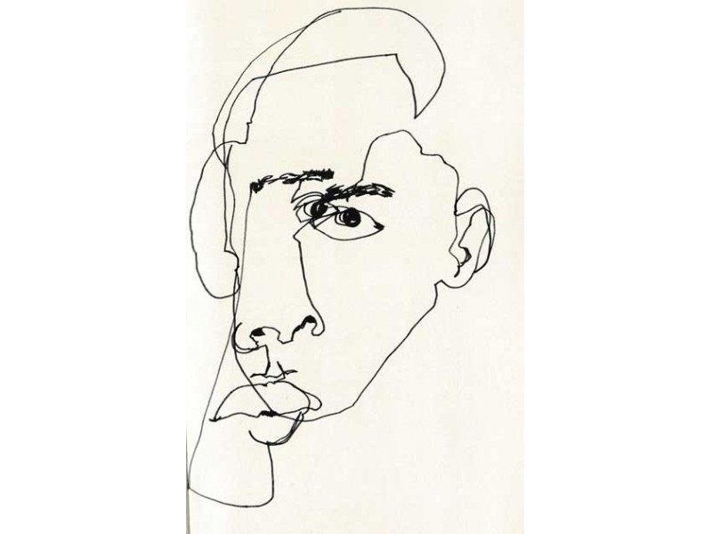 Contour Drawing And Line Drawing : Blind contour drawing with zeal harris santa monica ca