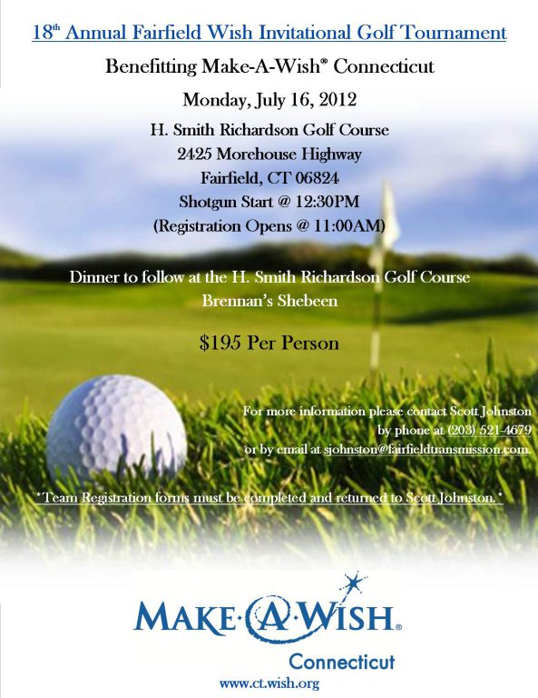 Annual Wish Invitational Charity Golf Tournament to benefit Make-A