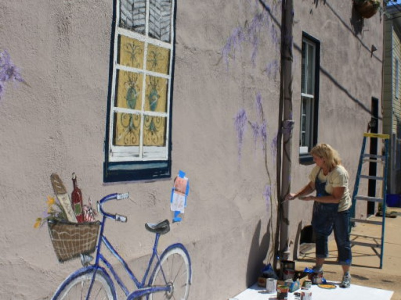 PHOTOS Artist Paints Mural on Fleet Street Annapolis MD Patch