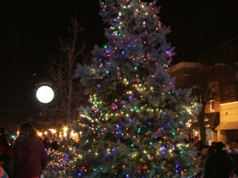 christmas parade lights up villages downtown