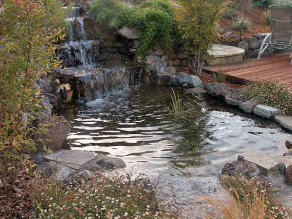 Going With The Flow Backyard Waterfalls Add Beauty And A