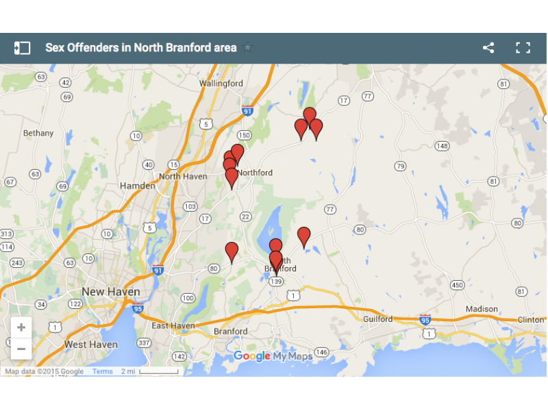 Sex offender location map ct