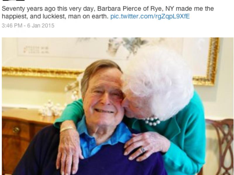 A Presidential Record George And Barbara Bush Celebrate 71st Wedding Anniversary