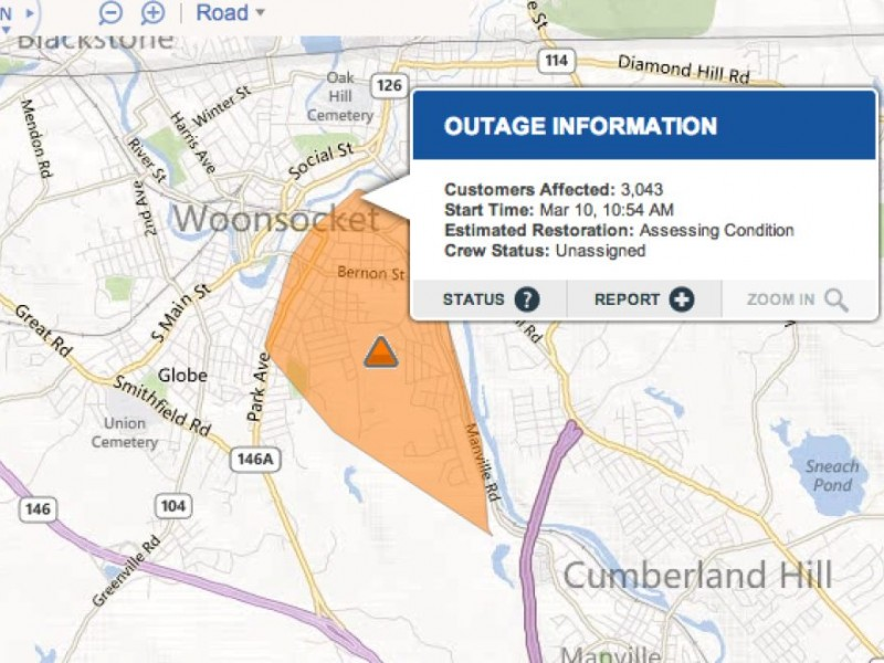 Update Power Outage In Woonsocket Briefly Affects 3000