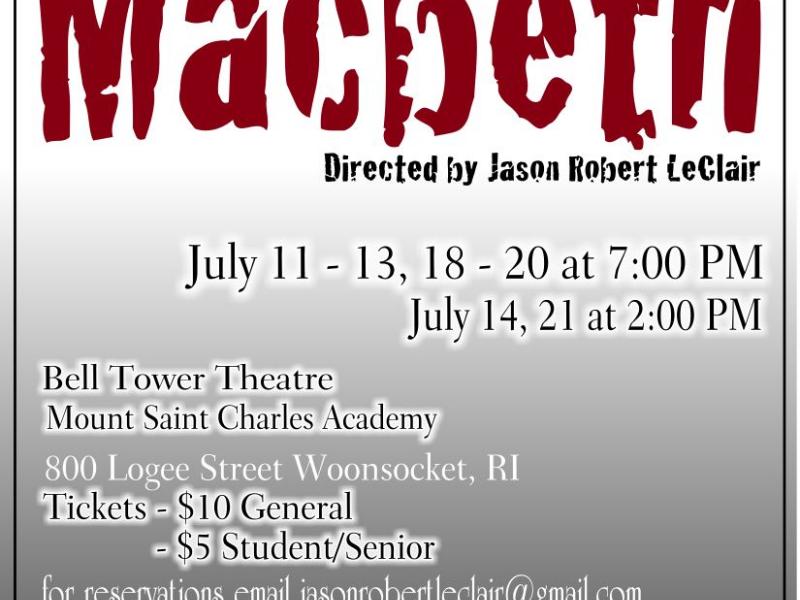 Mounts Steampunked Macbeth Debuts Tonight