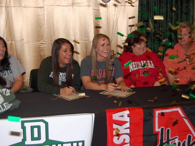 Dartmouth and Nebraska Sign Lakeside High Softball Players