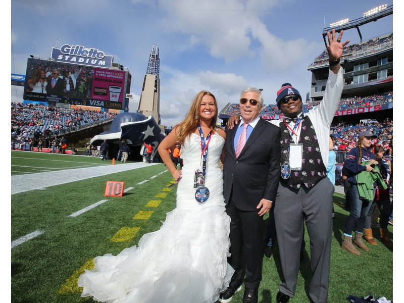 North Street Newlyweds Receive Surprise Wedding Gift From Patriots