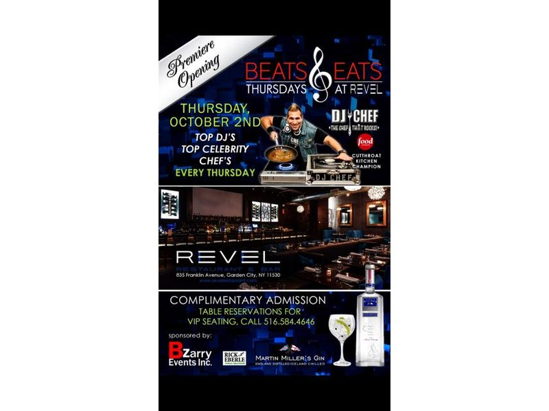 Beats Eats Thursdays At Revel Restaurant Garden City Garden City Ny Patch