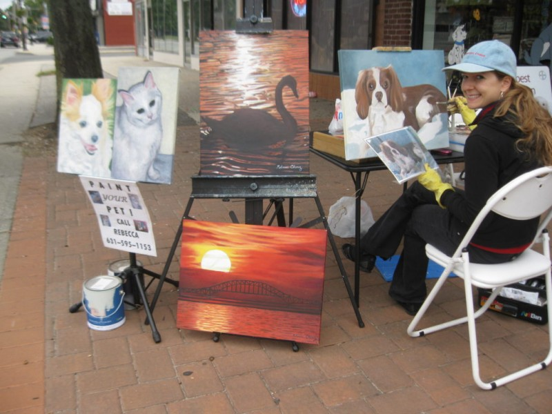 Local Artist Brings Color To N Babylon Streets Deer