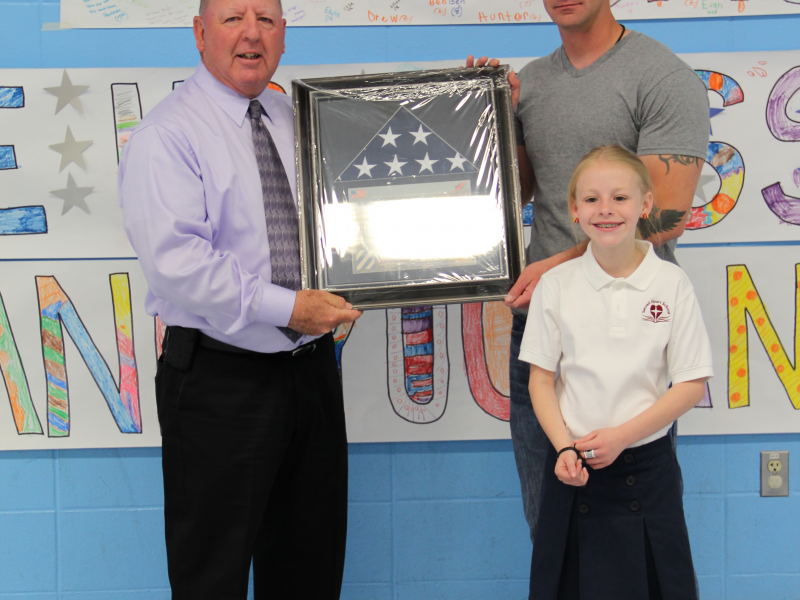 Sacred Heart School Welcomes Home Deployed Dad