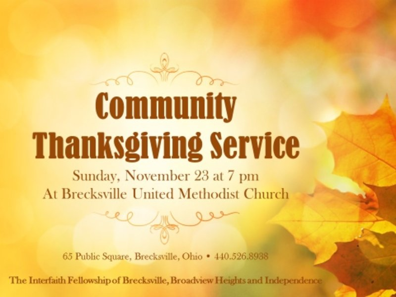 interfaith thanksgiving service liturgy