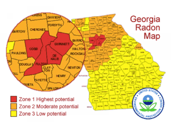 Georgia Radon Map Georgia Map - Georgia map test