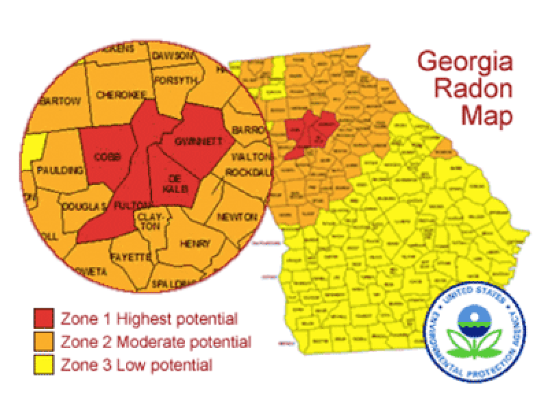How Much Do You Know About The Radon Levels In Your Home Buford - Epa radon map
