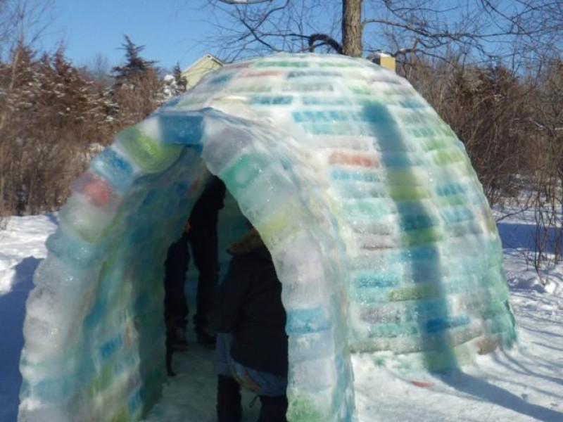 Hudson Neighbors Build Multi Colored Igloo Hudson Wi Patch