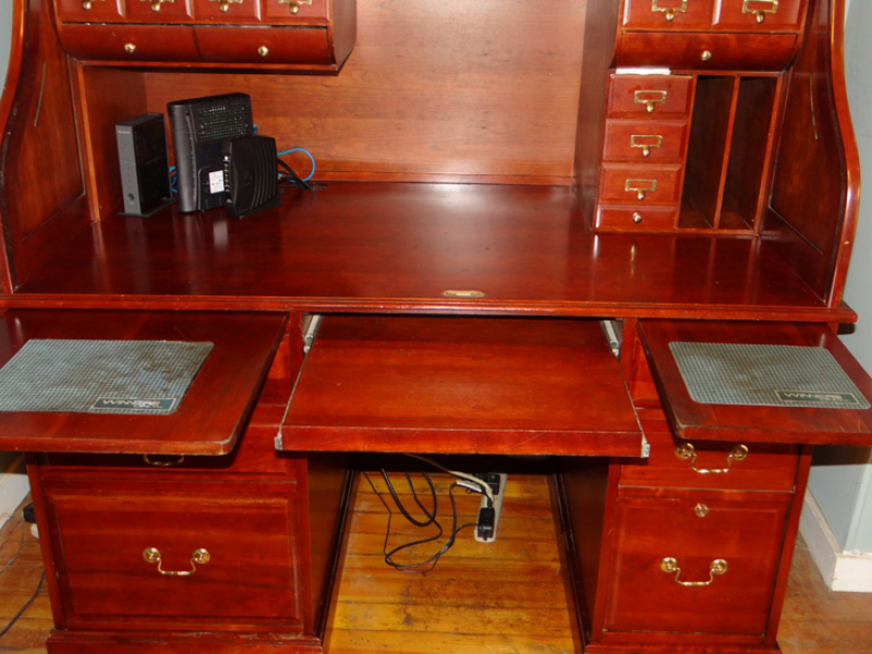 Porsche Newport Beach >> Solid Cherry Wood Roll Top Computer desk, $500.00 OBO | Portsmouth, RI Patch