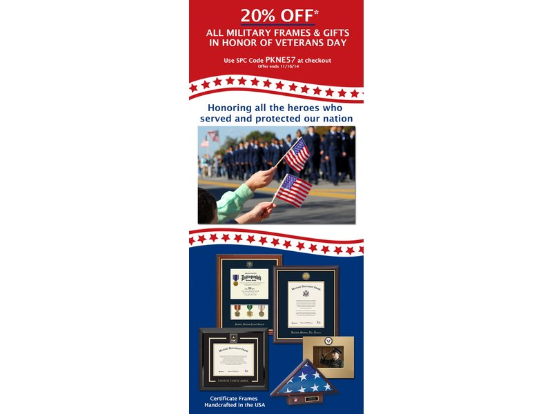 Thank You Veterans! Take advantage of 20% off military frames and ...