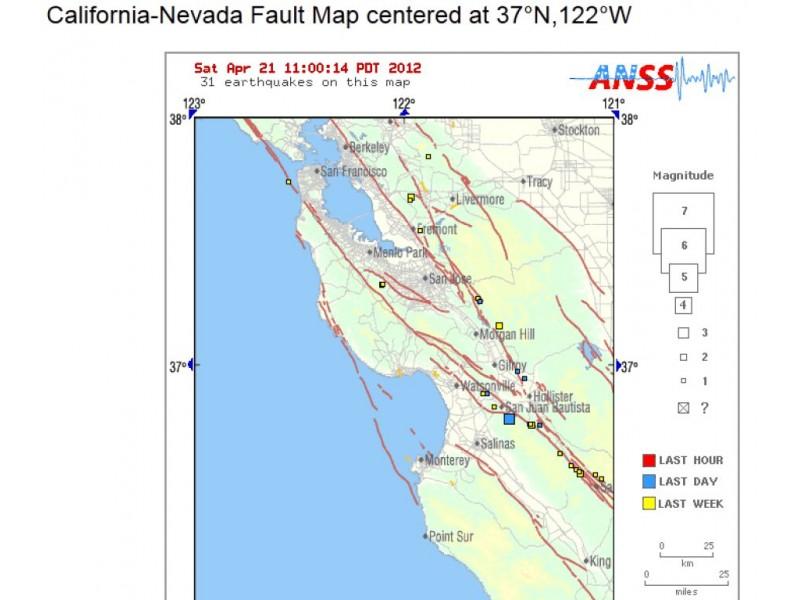 Earthquake Recap Eight Small Tremors Shake Santa Clara County