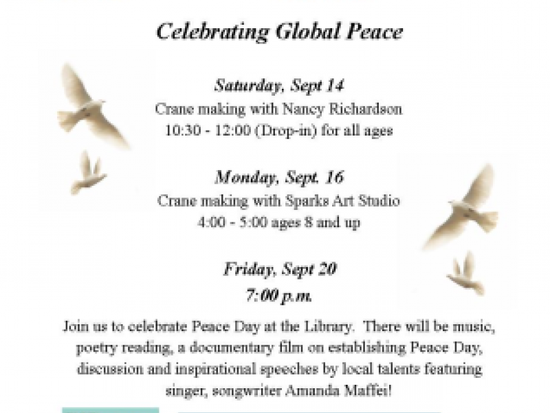Celebrate Peace at the Hopkinton Library | Holliston, MA Patch