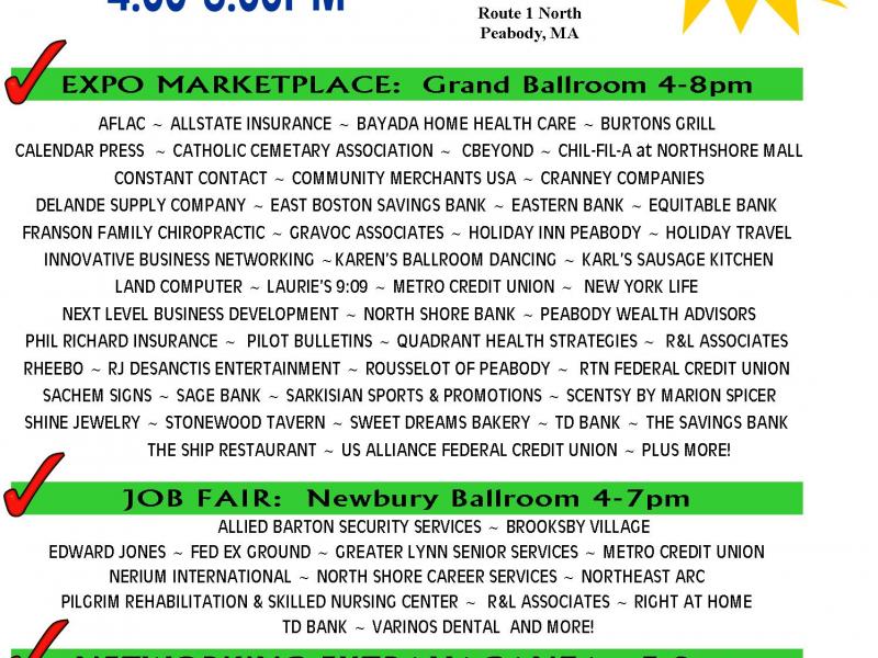 B2B Expo & Job Fair | Peabody, MA Patch